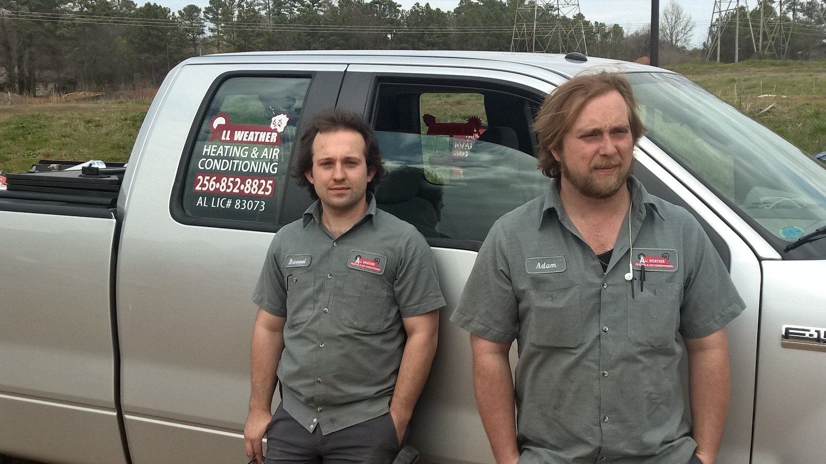 Adam Carter (Right) and Burneal Fick (Left) with truck – Adam ensures the jobs are completed timely and to the company standards. Both are people we lean on to train the new guys in the field.